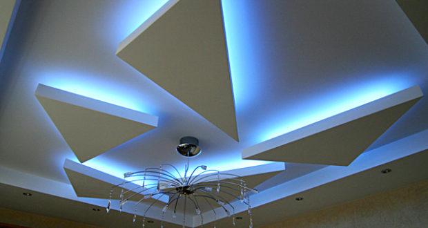 Освещение и подсветка натяжных потолков