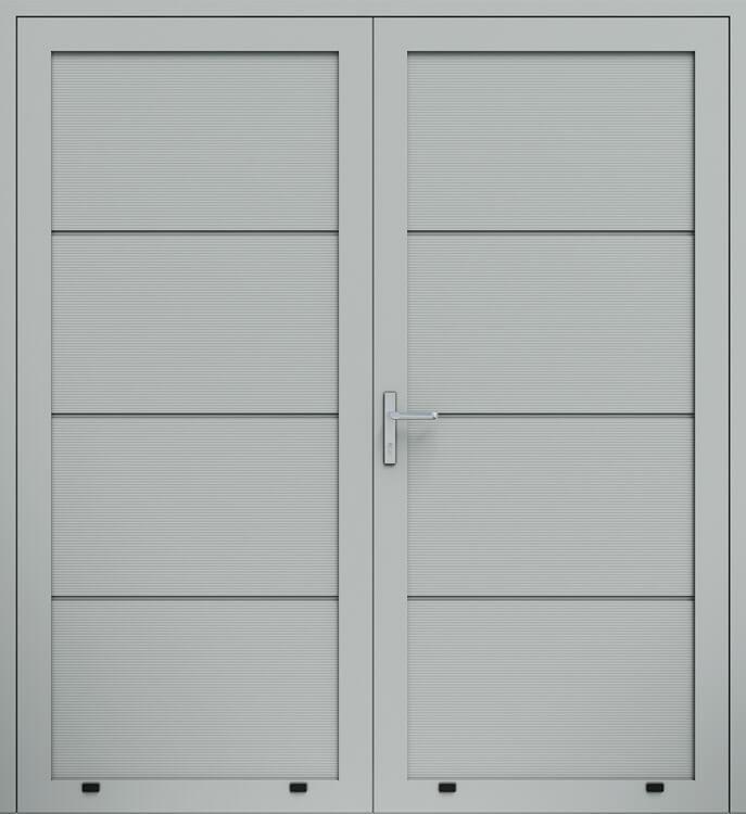 Двустворчатая алюминиевая дверь