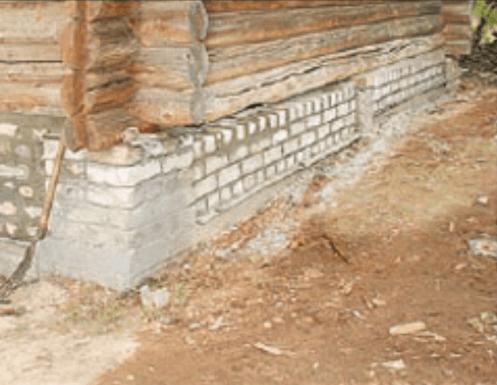 Кладка под деревянный дом