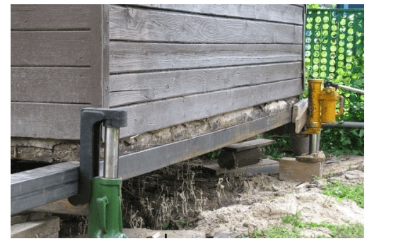 Замена нижних венцов дома - Дом, по устройству каналов