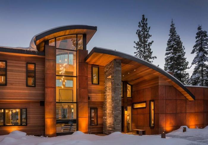 Современные фасады деревянных домов со всего мира